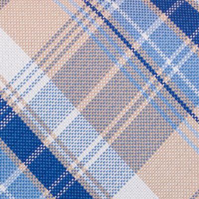 Mens Designer Ties: Taupe Nautica Maynard Plaid Tie