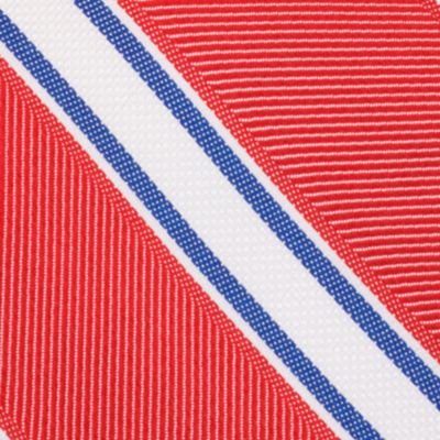 Mens Ties: Striped: Red Nautica Welch Stripe Tie
