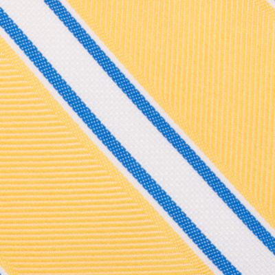 Mens Ties: Striped: Yellow Nautica Welch Stripe Tie