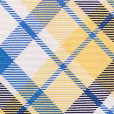Mens Designer Ties: Yellow Nautica Camotes Plaid Tie