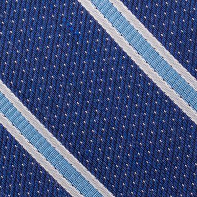 Young Men: Nautica Accessories: Blue Nautica Oman Stripe Tie