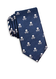 Nautica Skull Print Tie