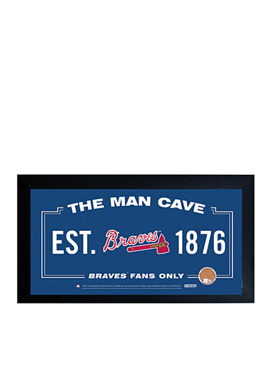 Steiner Sports MLB Atlanta Brave Man Cave Sign With Game-Used Dirt