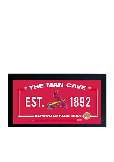 Steiner Sports MLB St. Louis Cardinals Man Cave Sign With Game-Used Dirt