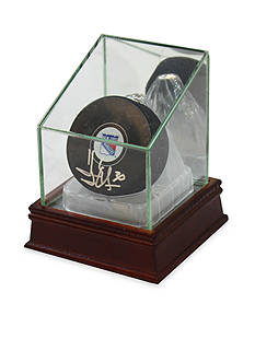 Steiner Sports Glass Puck Case With Ice Base