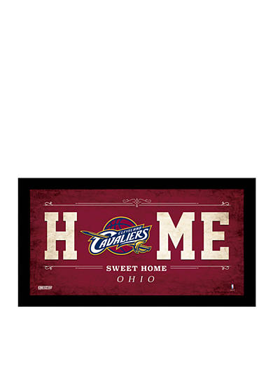 Steiner Sports NBA Cleveland Cavaliers Home Sweet Home Sign Framed