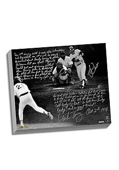 Steiner Sports MLB Bucky Dent & Mike Torrez Facsimile1978 Walk-Off Home Run Canvas