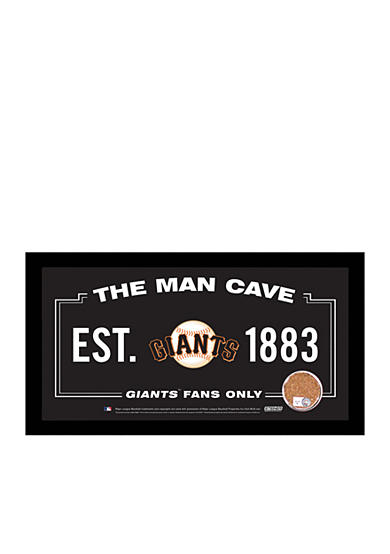 Steiner Sports MLB San Francisco Giants Man Cave Sign With Game-Used Dirt