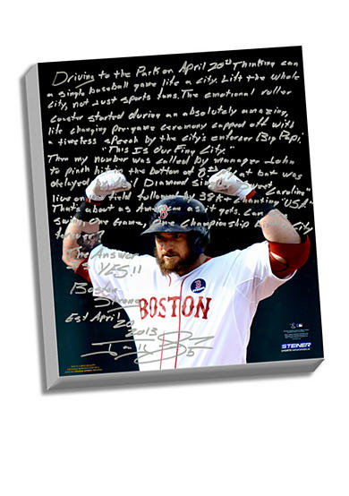 Steiner Sports Jonny Gomes's Facsimile Boston Strong Canvas