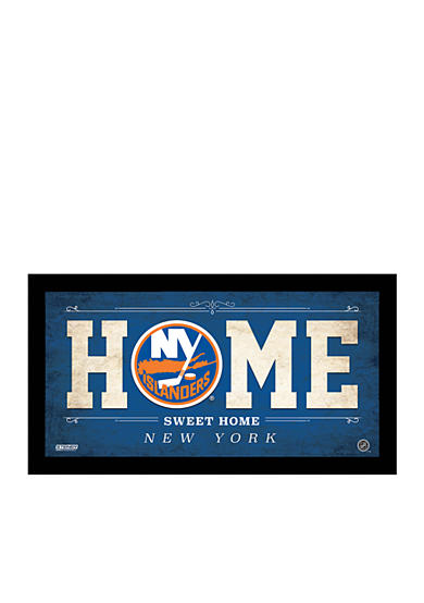 Steiner Sports NHL New York Islanders Home Sweet Home Sign Framed