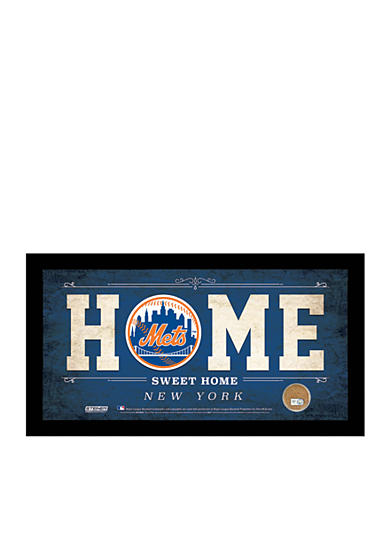 Steiner Sports MLB New York Mets Home Sweet Home Sign Framed
