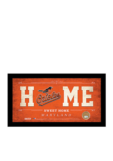 Steiner Sports MLB Baltimore Orioles Home Sweet Home Sign Framed