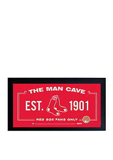 Steiner Sports MLB Red Sox Man Cave Sign With Game-Used Dirt