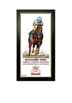 Steiner Sports American Pharoah's Triple Crown Commemorative Art Framed