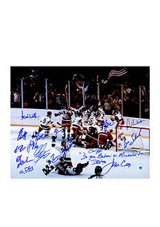 Steiner Sports 1980 USA Hockey Team Sign 16x20 Photo with Do You Believe in Miracles Inscription (17 Signatures)