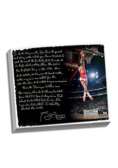 Steiner Sports Spud Webb's Facsimile Slam Dunk Canvas