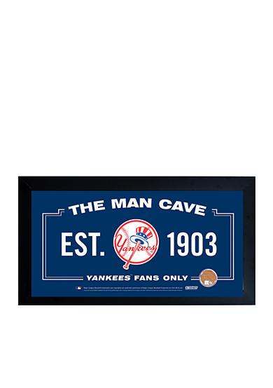 Yankees Man Cave Decor : Steiner sports™ mlb new york yankees man cave sign framed