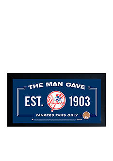 Steiner Sports MLB New York Yankees Home Sweet Home Sign With Game-Used Dirt