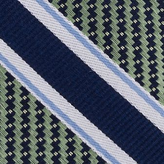 Eagle Young Men Sale: Green Eagle Twill Filled Stripe Tie