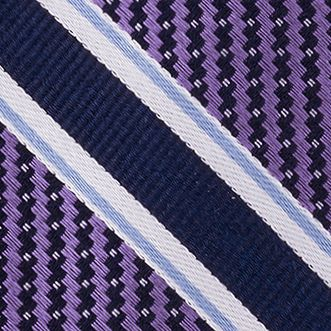 Eagle Young Men Sale: Purple Eagle Twill Filled Stripe Tie