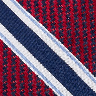 Eagle Young Men Sale: Red Eagle Twill Filled Stripe Tie