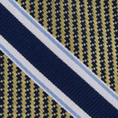 Eagle Young Men Sale: Yellow Eagle Twill Filled Stripe Tie