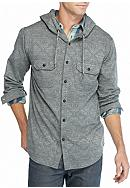 Ocean Current Fiction Button Down Hoodie