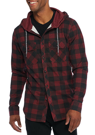 Ocean Current Last Button Down Hoodie