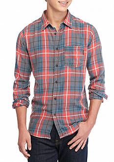 Ocean Current Freemont Burnout Woven Button Up Shirt