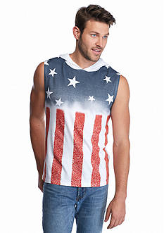 BEVEL™ Sleeveless Flag Horizontal Hoodie Shirt