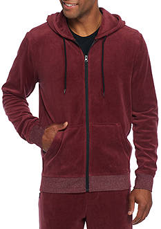 Brooklyn CLOTH® Mfg. Co Long Sleeve Full Zip Velour Hoodie