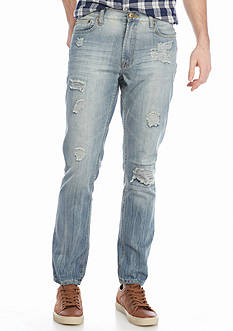 Brooklyn CLOTH Mfg. Co Slim Destructed Denim Jeans