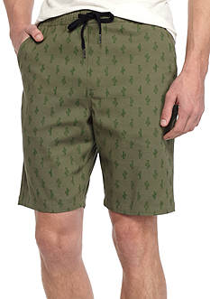 Brooklyn CLOTH Mfg. Co Cactus Print Jogger Shorts