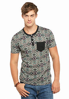 Brooklyn CLOTH® Mfg. Co. Short Sleeve Tribal Henley Shirt