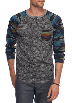 Brooklyn CLOTH Mfg. Co Long Sleeve Tribal Henley Shirt