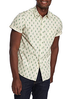 Brooklyn CLOTH Mfg. Co Short Sleeve Cacti Print Woven Shirt