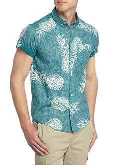 Brooklyn CLOTH Mfg. Co Short Sleeve Exploded Pineapple Button Down Shirt