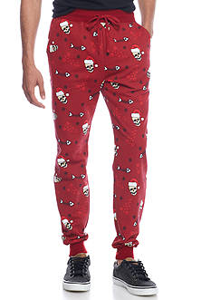 Hollywood The Jean People Holiday Skull Jogger Pants