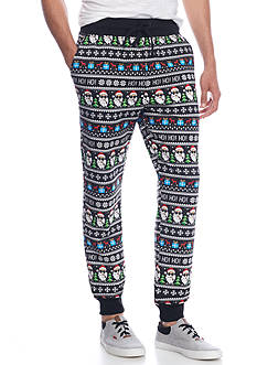 Hollywood The Jean People Fairaisle Holiday Jogger Pants