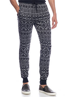 Hollywood The Jean People Fleece Tribal Jogger Pants