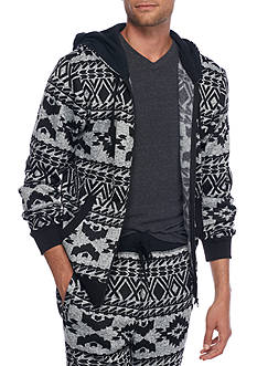 Hollywood The Jean People Full Zip Tribal Fleece Sweater
