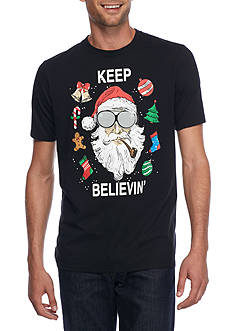 Seven Oaks Santa Keep Believin' Light up Graphic Tee