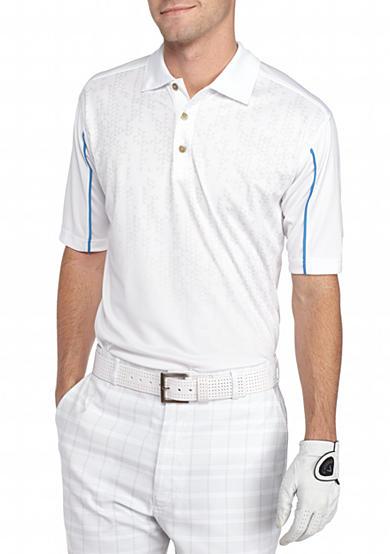 Pebble beach classic fit geometric performance golf polo for Pebble beach performance golf shirt