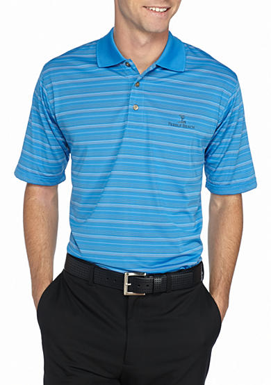 Pebble beach classic fit texture striped performance golf for Pebble beach performance golf shirt