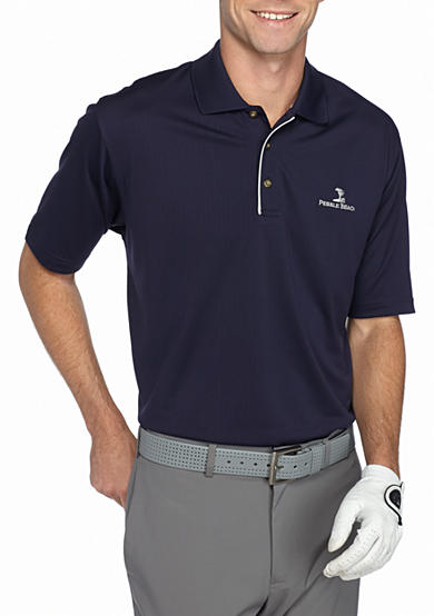 Pebble beach classic fit textured performance golf polo for Pebble beach performance golf shirt