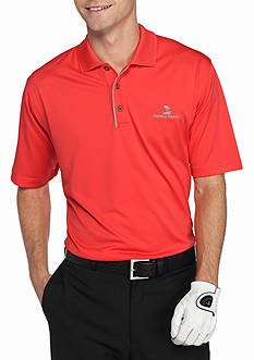 PEBBLE BEACH Classic-Fit Textured Performance Golf Polo Shirt