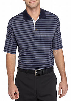 PEBBLE BEACH Classic-Fit Shadow-Striped Performance Golf Polo Shirt