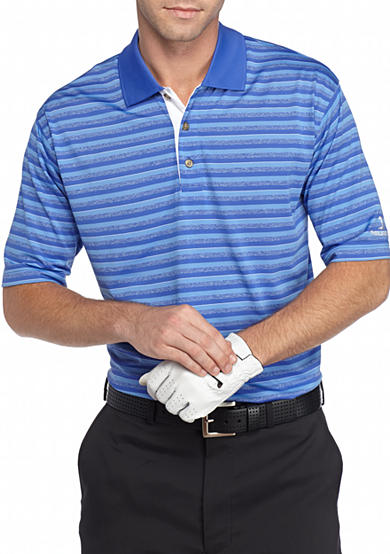Pebble beach classic fit shadow striped performance golf for Pebble beach performance golf shirt