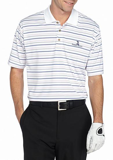 Pebble beach jersey stripe performance golf polo shirt belk for Pebble beach performance golf shirt