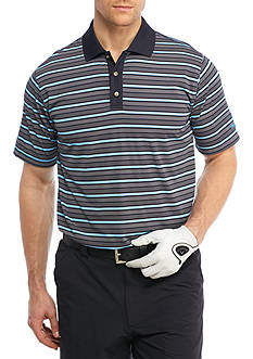 PEBBLE BEACH™ Jersey Stripe Performance Golf Polo Shirt